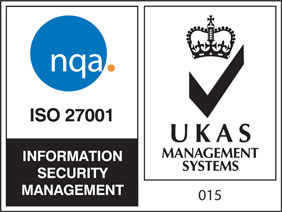 ISO 27001 - Information Security (UKAS) Logo